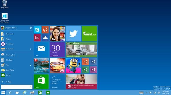 Windows 10 Developer Preview